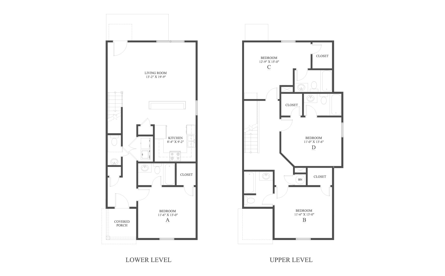 The 4 Cottage A Floor Plan is a 4 bedroom home with over 1767 square feet.