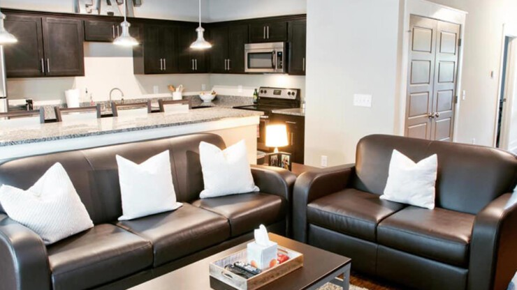 Make yourself at home in our beautiful, fully furnished homes with premium countertops, appliances, and more.