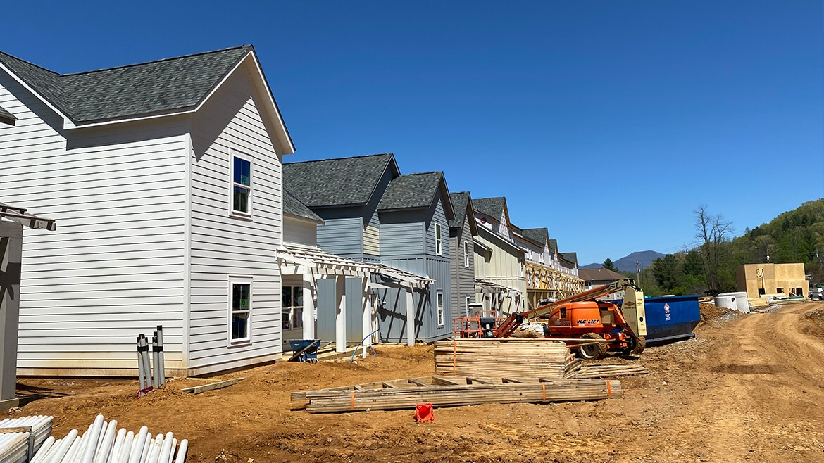 Prospect Speedwell construction on our Cottage and Townhome Floor Plans is near completion.